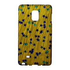 Abstract Gold Background With Blue Stars Galaxy Note Edge