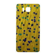 Abstract Gold Background With Blue Stars Samsung Galaxy Alpha Hardshell Back Case