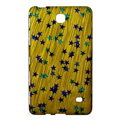 Abstract Gold Background With Blue Stars Samsung Galaxy Tab 4 (7 ) Hardshell Case