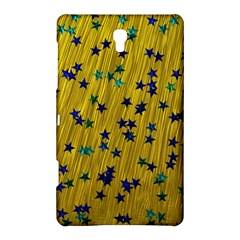 Abstract Gold Background With Blue Stars Samsung Galaxy Tab S (8 4 ) Hardshell Case