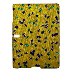 Abstract Gold Background With Blue Stars Samsung Galaxy Tab S (10.5 ) Hardshell Case