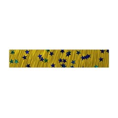 Abstract Gold Background With Blue Stars Flano Scarf (Mini)