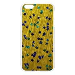 Abstract Gold Background With Blue Stars Apple Seamless iPhone 6 Plus/6S Plus Case (Transparent)