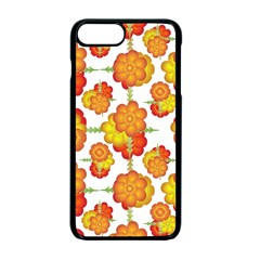 Colorful Stylized Floral Pattern Apple Iphone 7 Plus Seamless Case (black)