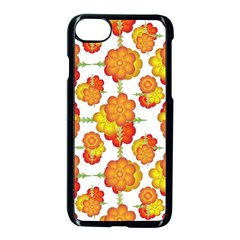 Colorful Stylized Floral Pattern Apple Iphone 7 Seamless Case (black)