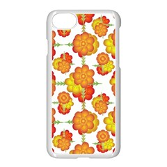 Colorful Stylized Floral Pattern Apple Iphone 7 Seamless Case (white)