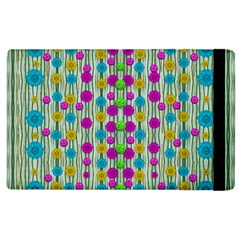 Wood And Flower Trees With Smiles Of Gold Apple Ipad 2 Flip Case