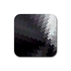 Abstract Pattern Moving Transverse Rubber Coaster (square)