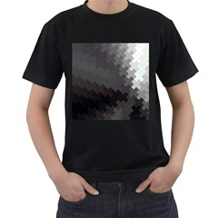 Abstract Pattern Moving Transverse Men s T Shirt (black) (two Sided)