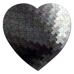 Abstract Pattern Moving Transverse Jigsaw Puzzle (Heart)