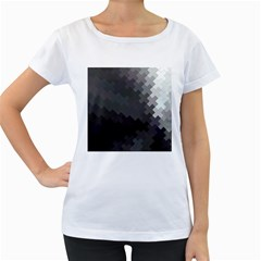 Abstract Pattern Moving Transverse Women s Loose Fit T Shirt (white)