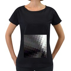 Abstract Pattern Moving Transverse Women s Loose Fit T Shirt (black)