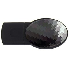 Abstract Pattern Moving Transverse Usb Flash Drive Oval (4 Gb)