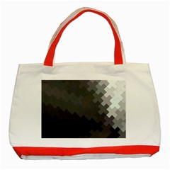 Abstract Pattern Moving Transverse Classic Tote Bag (red)