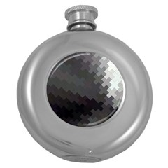 Abstract Pattern Moving Transverse Round Hip Flask (5 oz)