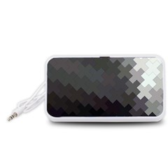 Abstract Pattern Moving Transverse Portable Speaker (White)