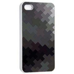 Abstract Pattern Moving Transverse Apple iPhone 4/4s Seamless Case (White)