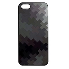 Abstract Pattern Moving Transverse Apple iPhone 5 Seamless Case (Black)