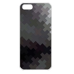Abstract Pattern Moving Transverse Apple iPhone 5 Seamless Case (White)