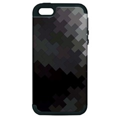 Abstract Pattern Moving Transverse Apple Iphone 5 Hardshell Case (pc+silicone)