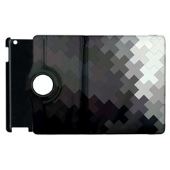 Abstract Pattern Moving Transverse Apple iPad 2 Flip 360 Case
