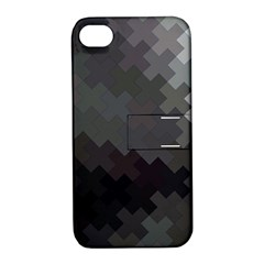 Abstract Pattern Moving Transverse Apple Iphone 4/4s Hardshell Case With Stand