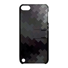 Abstract Pattern Moving Transverse Apple iPod Touch 5 Hardshell Case with Stand