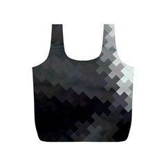 Abstract Pattern Moving Transverse Full Print Recycle Bags (S)