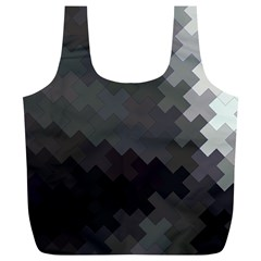 Abstract Pattern Moving Transverse Full Print Recycle Bags (L)