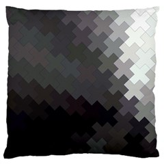 Abstract Pattern Moving Transverse Large Flano Cushion Case (One Side)