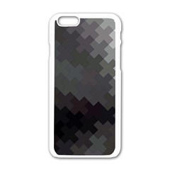 Abstract Pattern Moving Transverse Apple iPhone 6/6S White Enamel Case