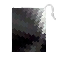Abstract Pattern Moving Transverse Drawstring Pouches (extra Large)