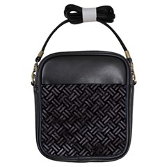 Woven2 Black Marble & Black Watercolor Girls Sling Bag