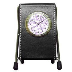 Pattern Pen Holder Desk Clocks