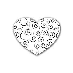 Pattern Rubber Coaster (Heart)