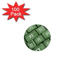 Pi Grunge Style Pattern 1  Mini Buttons (100 Pack)