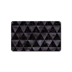Triangle3 Black Marble & Black Watercolor Magnet (name Card)