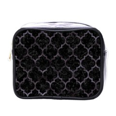 Tile1 Black Marble & Black Watercolor Mini Toiletries Bag (one Side)