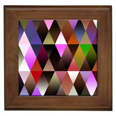 Triangles Abstract Triangle Background Pattern Framed Tiles