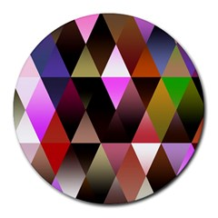 Triangles Abstract Triangle Background Pattern Round Mousepads