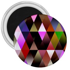 Triangles Abstract Triangle Background Pattern 3  Magnets