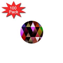 Triangles Abstract Triangle Background Pattern 1  Mini Buttons (100 pack)