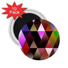Triangles Abstract Triangle Background Pattern 2.25  Magnets (10 pack)