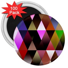 Triangles Abstract Triangle Background Pattern 3  Magnets (100 Pack)
