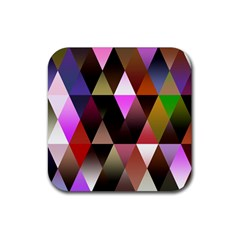 Triangles Abstract Triangle Background Pattern Rubber Square Coaster (4 pack)