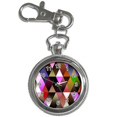 Triangles Abstract Triangle Background Pattern Key Chain Watches
