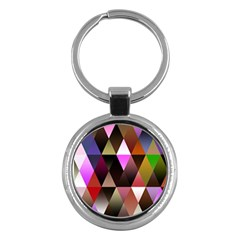 Triangles Abstract Triangle Background Pattern Key Chains (Round)