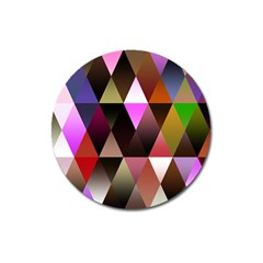 Triangles Abstract Triangle Background Pattern Magnet 3  (Round)