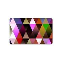 Triangles Abstract Triangle Background Pattern Magnet (name Card)