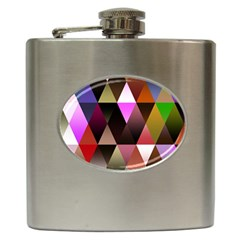 Triangles Abstract Triangle Background Pattern Hip Flask (6 Oz)